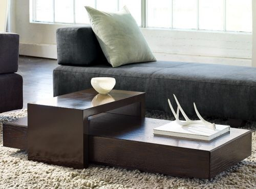 West Elm Bridge Coffee And Side Tables Modern Living Room Table