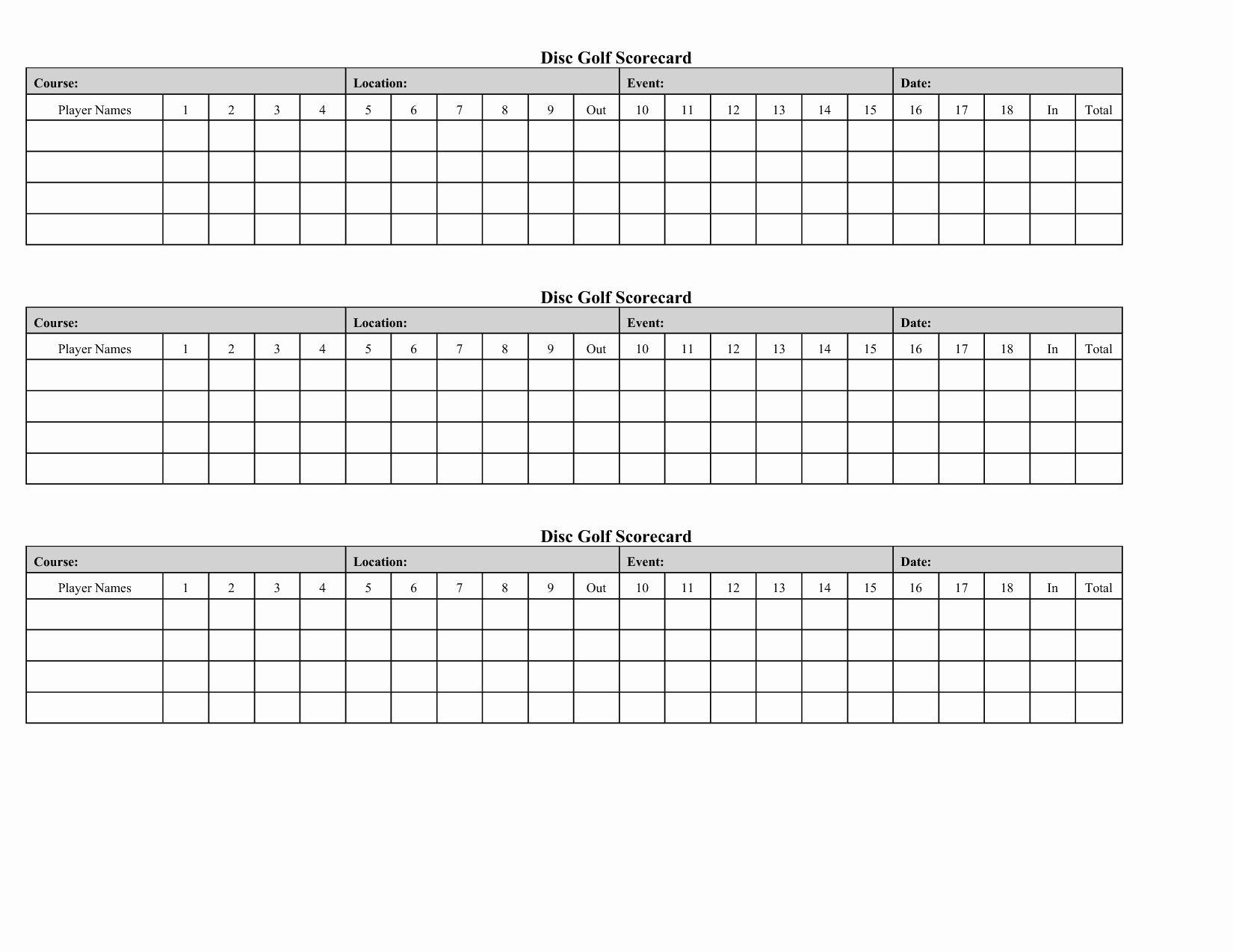 Golf Scorecard Template Beautiful Free Mini Golf Scorecard Template Paicrosinon S Blog Golf Scorecard Golf Crafts Golf Score