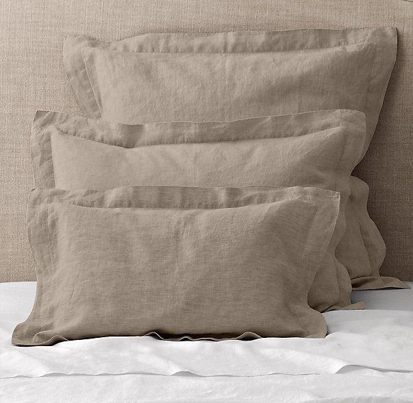 Vintage Washed Belgian Linen Sham Belgian Linen Duvet Covers Belgian Linen Sheets Belgian Linen Bedding
