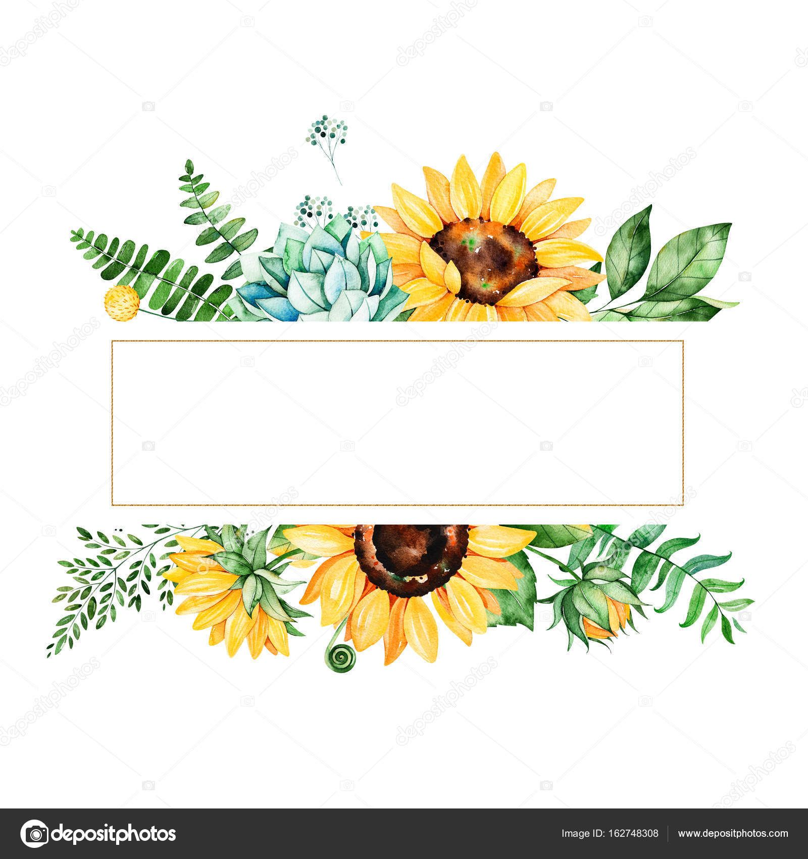 Image Result For Yellow Watercolor Flowers Border Watercolor