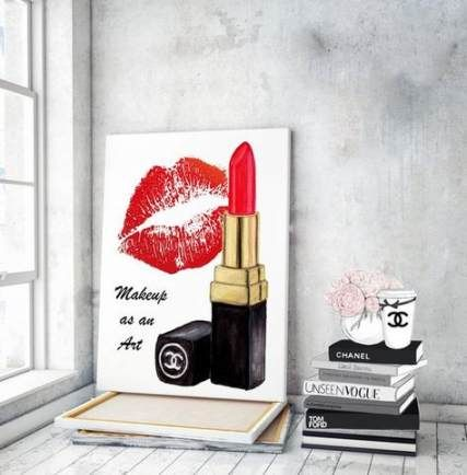 Drawing Art Makeup Fashion Illustrations 52 Ideas Makeup Canvas Wall Art Makeup Canvas Makeup Wall Art