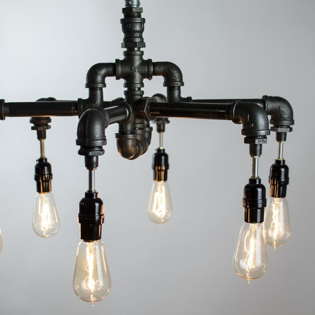 6 Edison Bulbs Industrial Lighting Chandelier by Chic Watts | I can ...