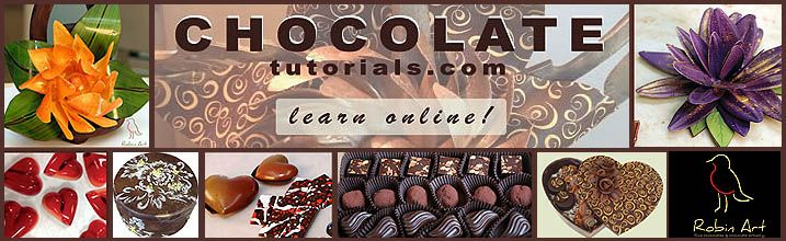 Chocolate Tutorials- learn how to make chocolate decorations for cake decorating and dessert garnishing.