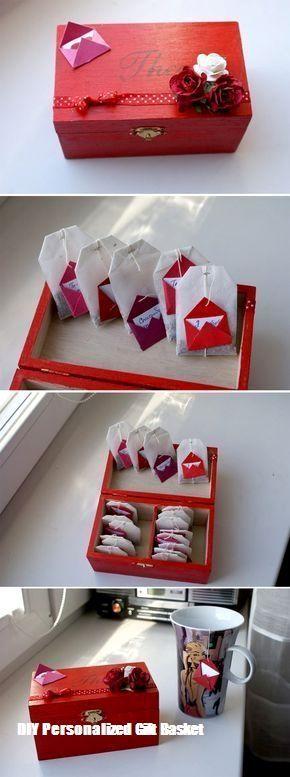 #ValentinstagGeschenkideen-DIY personalisierte Geschenkkorb für jedermann, Freu…