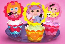 Printable Birthday Decorations Free ~ Free lalaloopsy cupcake decorations and wrappers girl birthday