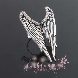 Large Angel Wings Bling - ring