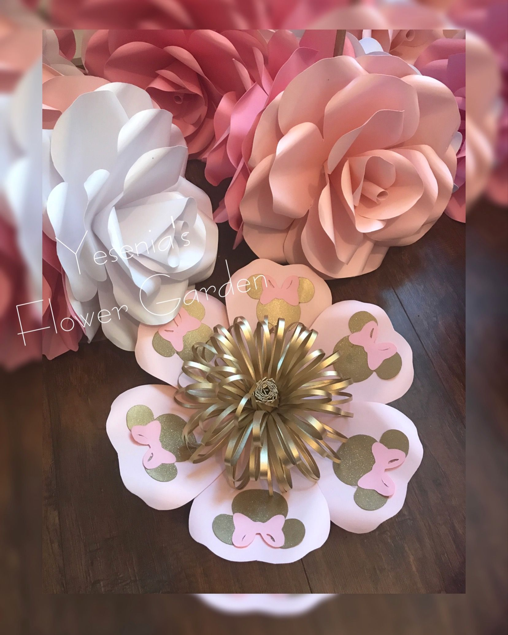 Minnie Mouse Paper Flower Instagram Yesenias Flower Garden