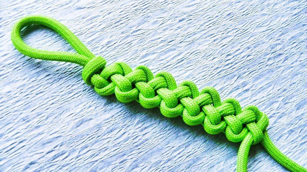 きれいなひもの結び方 簡単にできます くさり結び ジッパーシネット の編み方 How To Make A Zipper Sinnet 2020 モンキー結び 編み方 編み