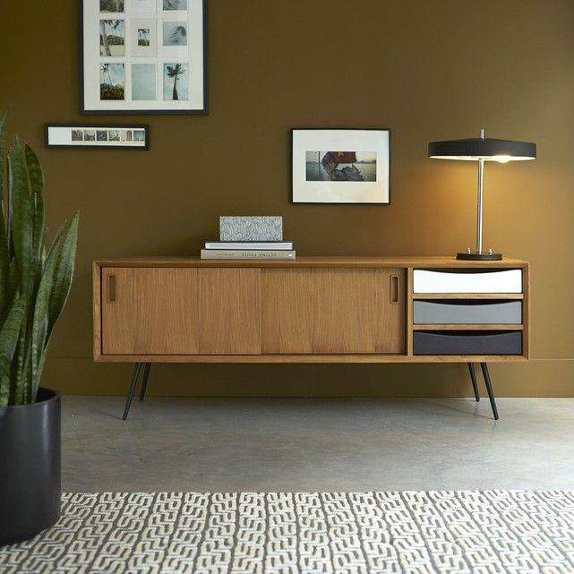 Meuble TV en bois de teck 155 Ruben Salons, Living room paint and TVs