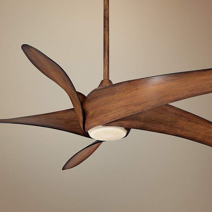 62 Quot Artemis Xl5 Distressed Koa Led Dc Ceiling Fan Home
