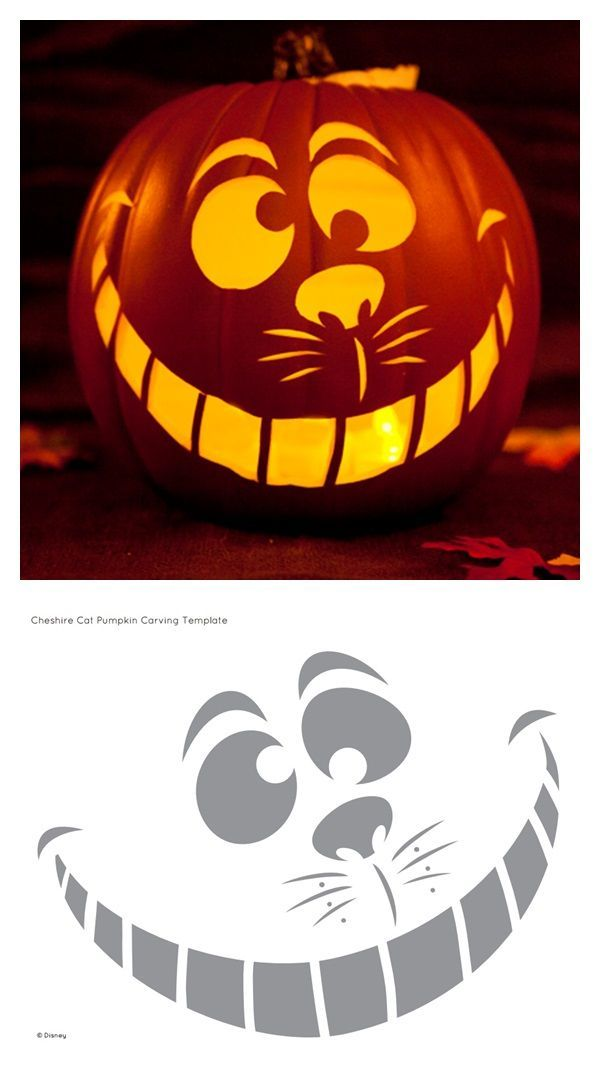Cheshire Cat Pumpkin Carving Template - #carving #cat #Cheshire #Pumpkin #Template #pumkincarvingdesigns
