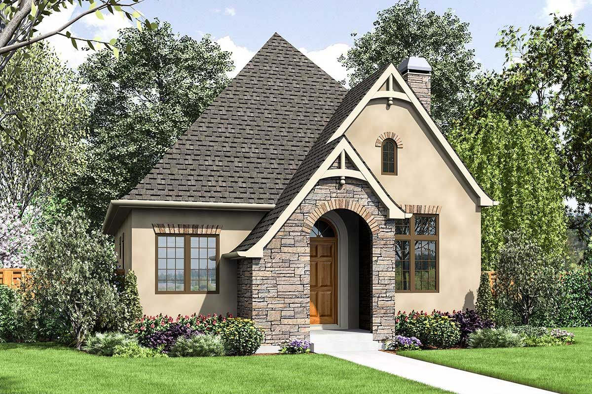 Plan 69671am Tiny Cottage House Plan With Guest Bed Craftsman Style House Plans Cottage House Plans Tiny Cottage