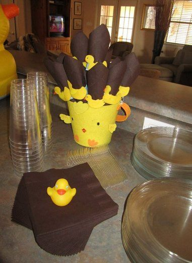 Rubber Ducky in Tub Baby Shower Party Ideas | Baby shower parties ...