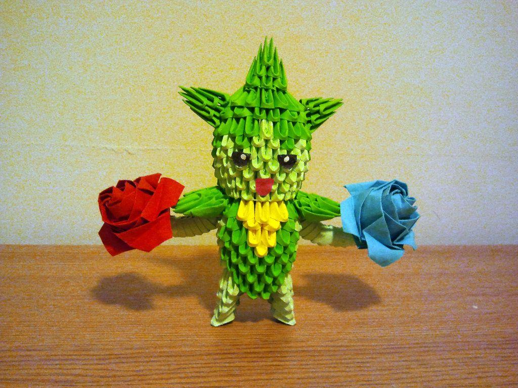 3d origami roselia by pokegami on deviantart origami pinterest 3d origami roselia by pokegami on deviantart jeuxipadfo Images