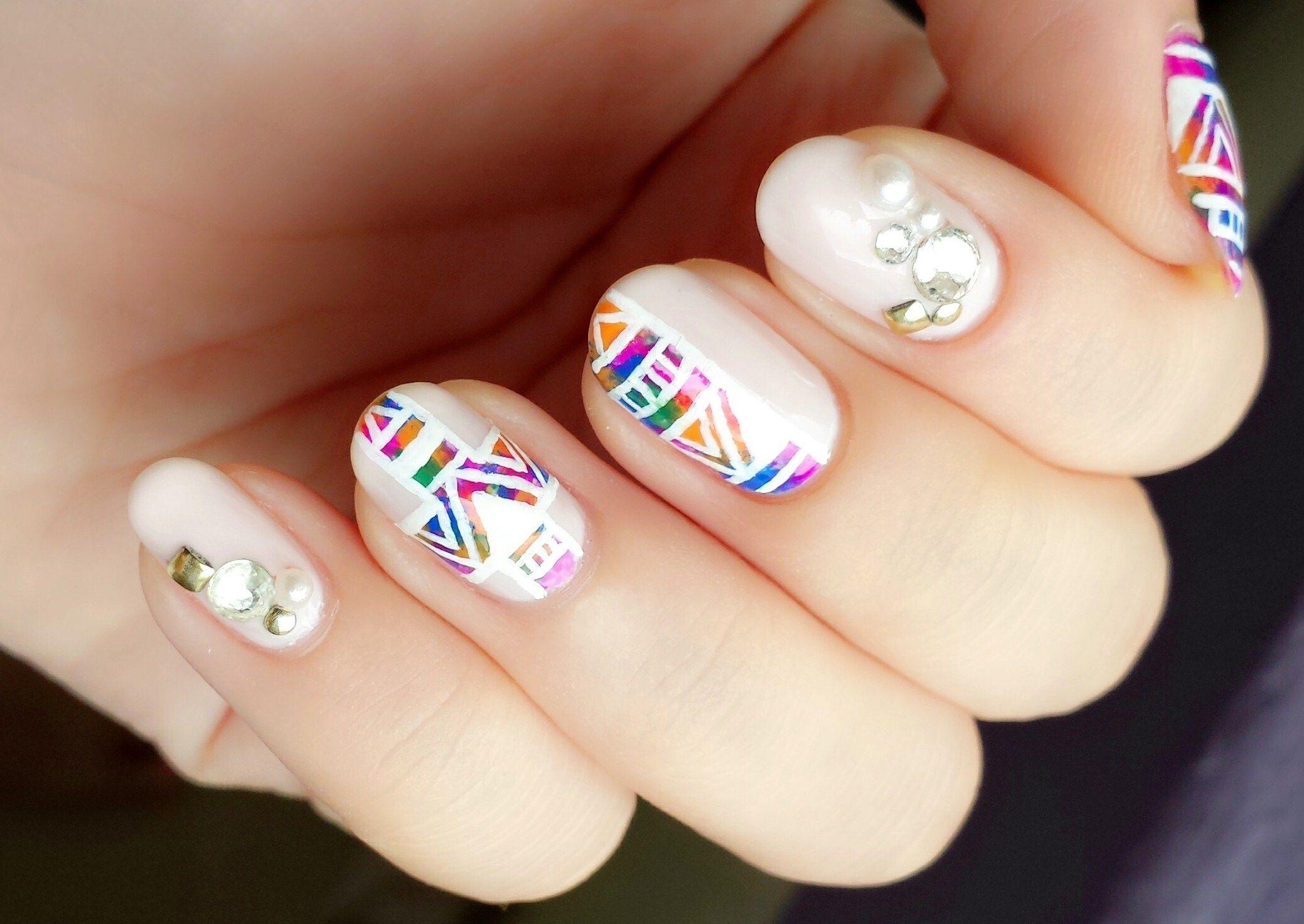 Aztec Acrylic Nail Designs | Nails | Pinterest | Acrylic nail ...