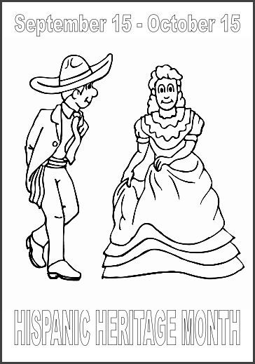 coloring pages spanish culture | CHSH - Monthly Observations Celebrations Hispanic Heritage ...