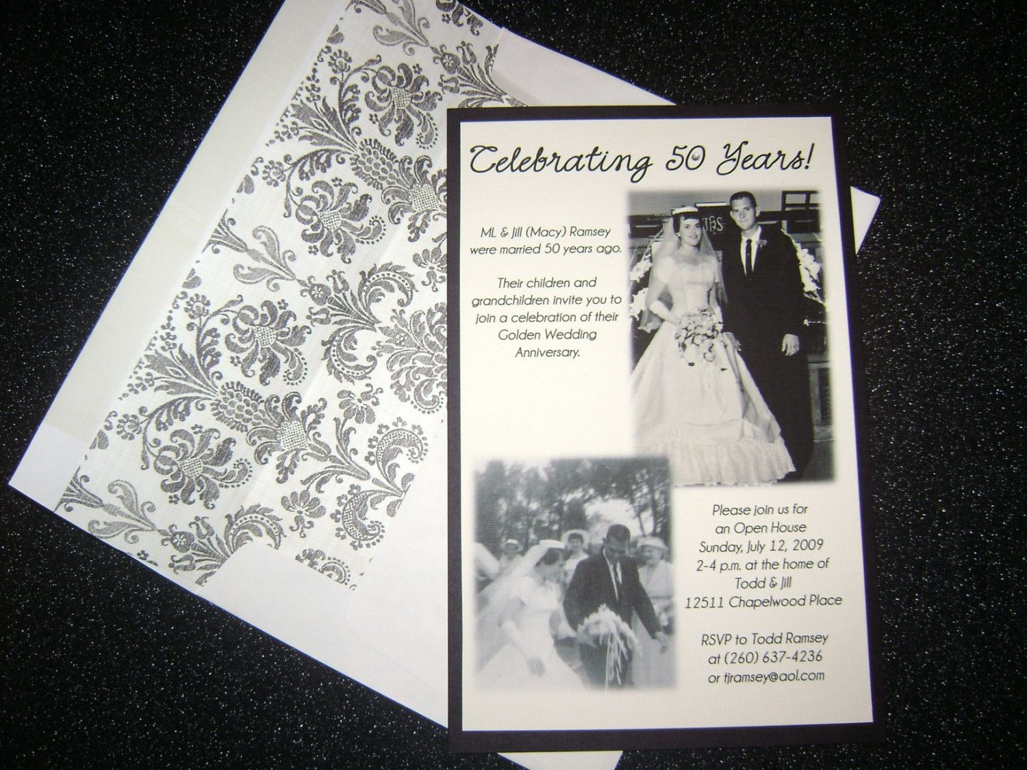 25 or 50 Wedding Anniversary Invitation Party by kcboyce on Etsy ...