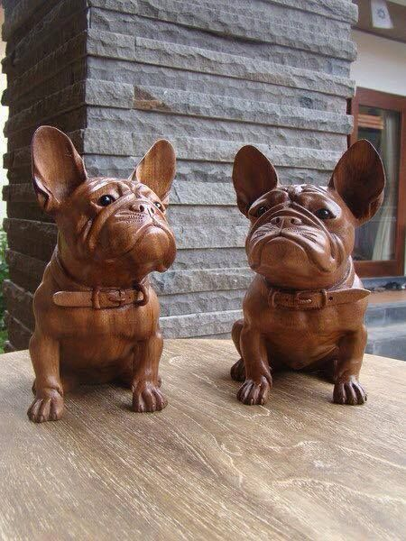 Wood Carved French Bulldog Https Www Facebook Com Photo Php