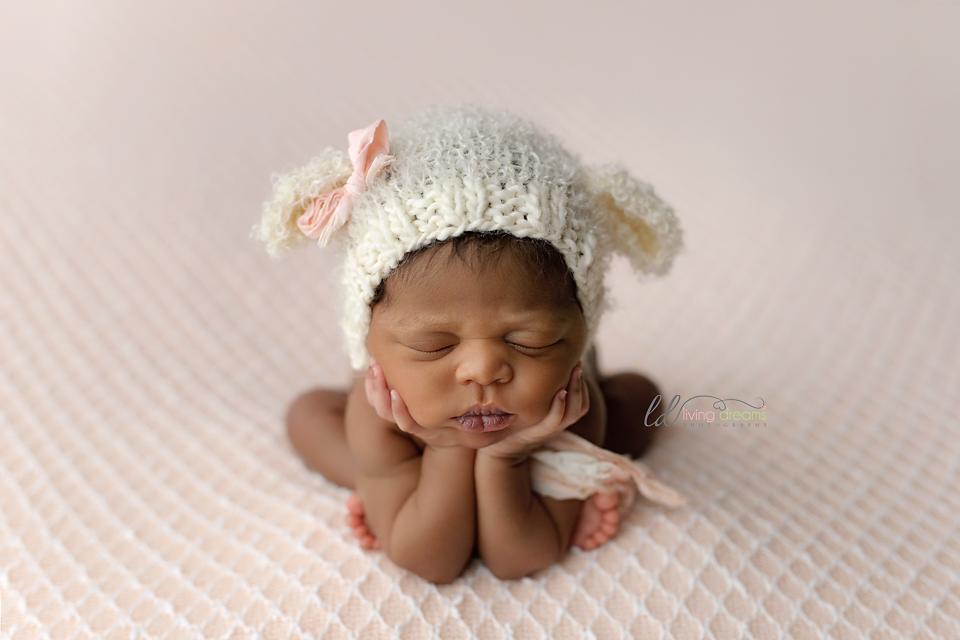 Newborn knit hat newborn photo prop knit lamb hat little lamb bonnet knitted hats newborn knit hat animal bonnet hats for babies by