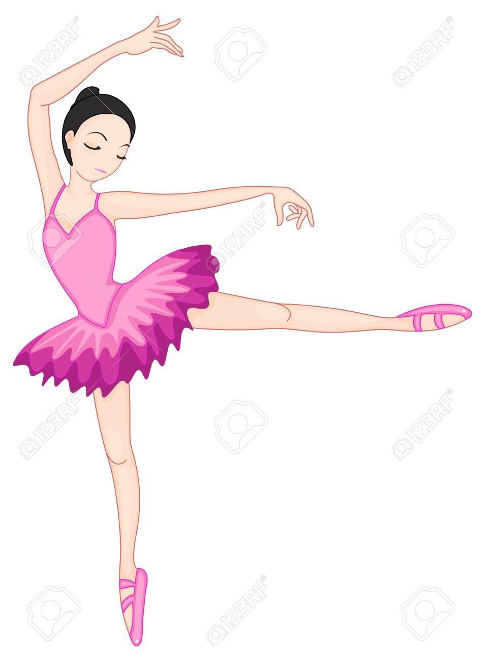 illustration of a ballerina pose on white royalty free cliparts vectors and stock illustration image 13268644  [ 976 x 1300 Pixel ]