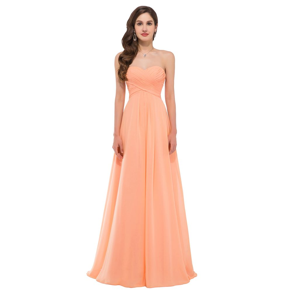 9a09a89530 light orange plus size bridesmaid dresses - Google Search