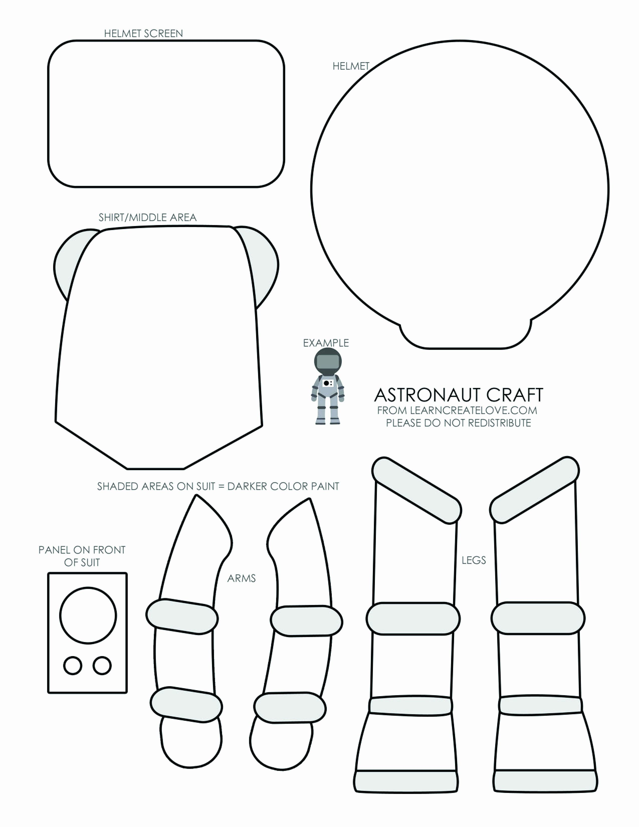 Space Helmet Coloring Page Lovely Astronaut Craft 123 Play And