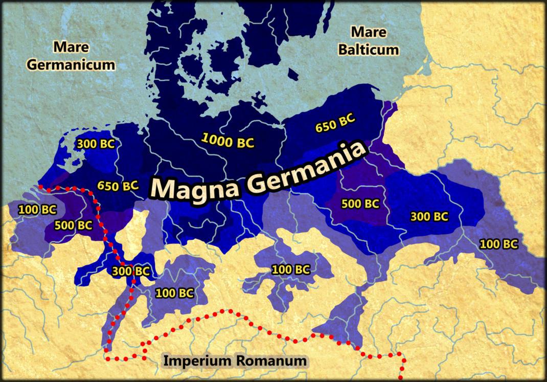 Germanic settlement 1000 BC   100 BC by Arminius1871 on deviantART     Germanic settlement 1000 BC   100 BC by Arminius1871 on deviantART