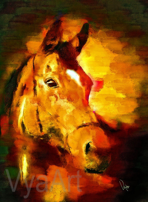 WATERCOLOR HORSE PAINTING Giclée Print horse art equestrian decor ...