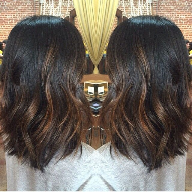Luxe balayage court black hair for your new haircut court avec black balayage hair color for short hair pmusecretfo Gallery