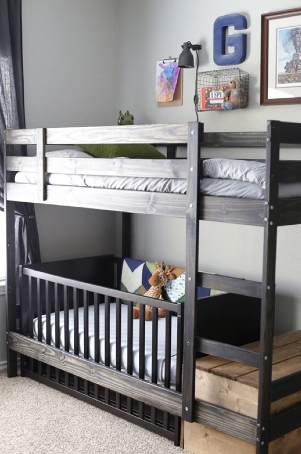 Swap A Cot For The Bottom Bed On The Ikea Mydal Bunk Bed Kids