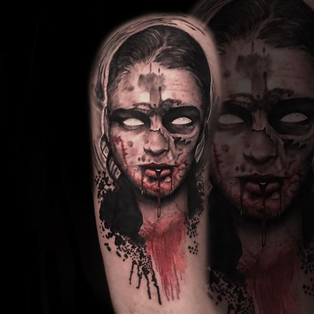 Scary Tattoo Models and Tattoo Ideas - 30 Scariest Tattoo Designs of this Week - BEAUTY ZONE & ARTCLUB