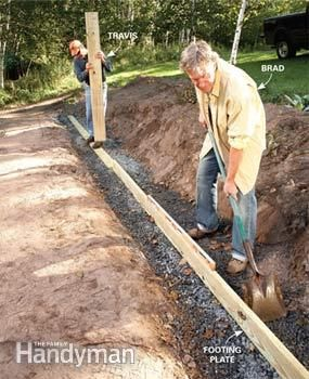 how to make a wood retaining wall
