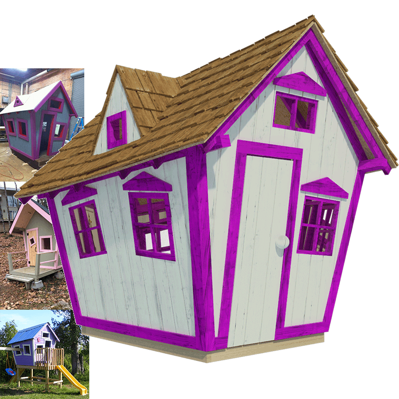 Step by step diy guide complete set of playhouse plans for Playhouse diy plans