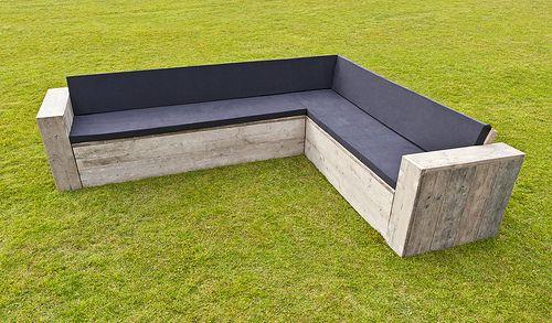loungebank extra groot met kussens | patio | pinterest | patio and bench