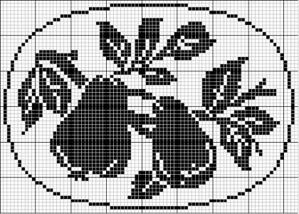 Oval 44 | Free chart for cross-stitch, filet crochet | Chart for pattern - Gráfico