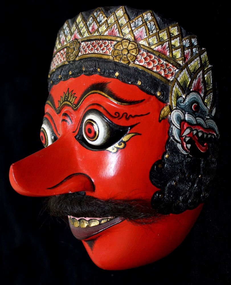 Java Superb HandCarved Topeng Mask KlanaResobagu
