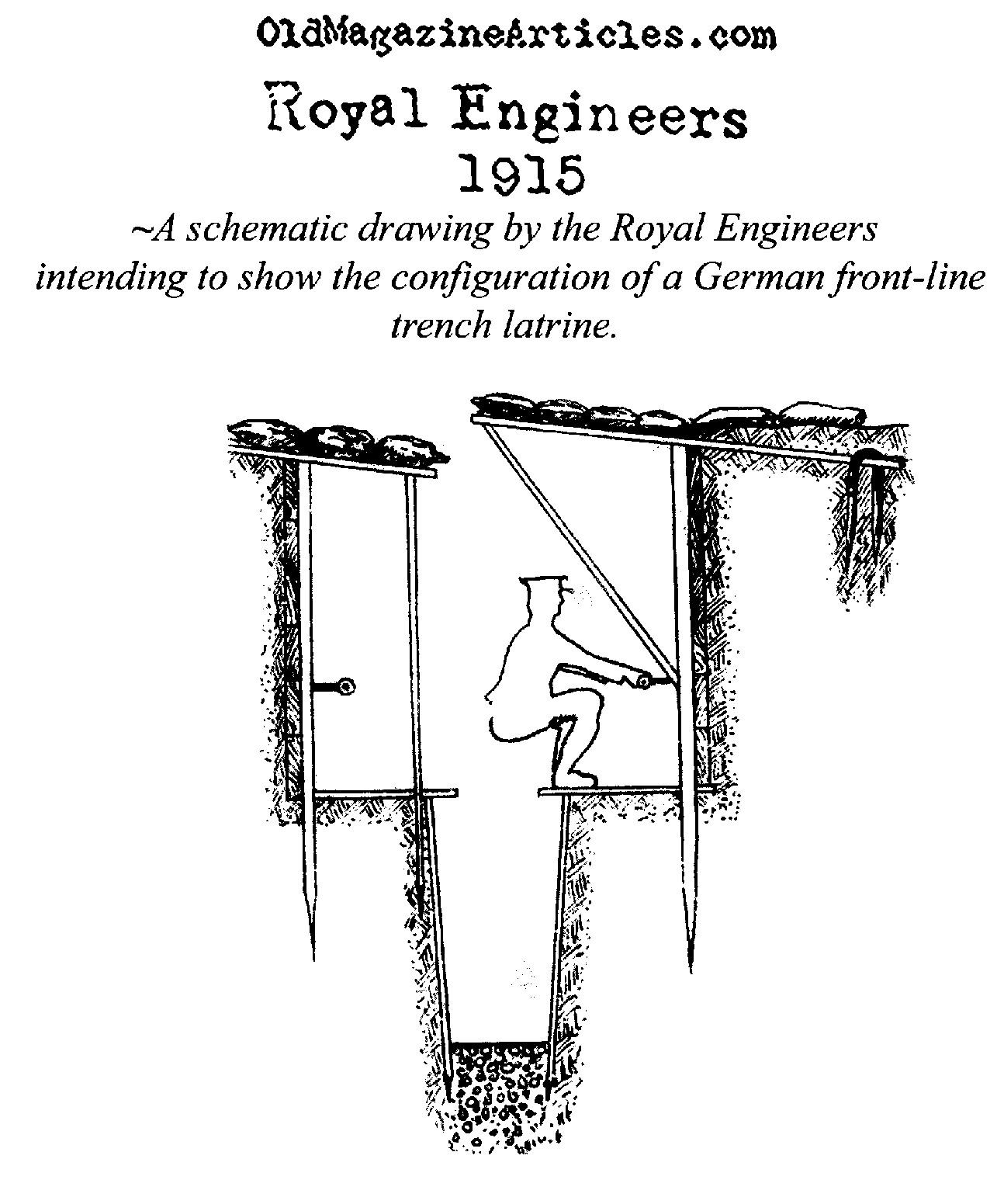 a british drawing of a german trench latrine  royal