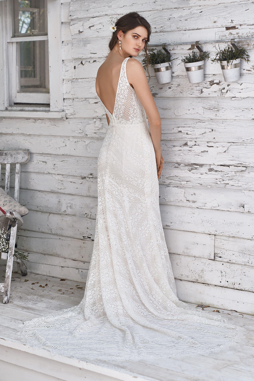190fd20f53 Wild Romantic Weddingdress Bruiloft Trouwjurk Bride Bruidsjurk Backside  Boho Vintage Kant Mouwen Sleeves Lace Open rug