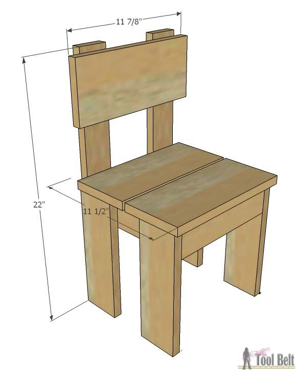 Simple Kid S Table And Chair Set
