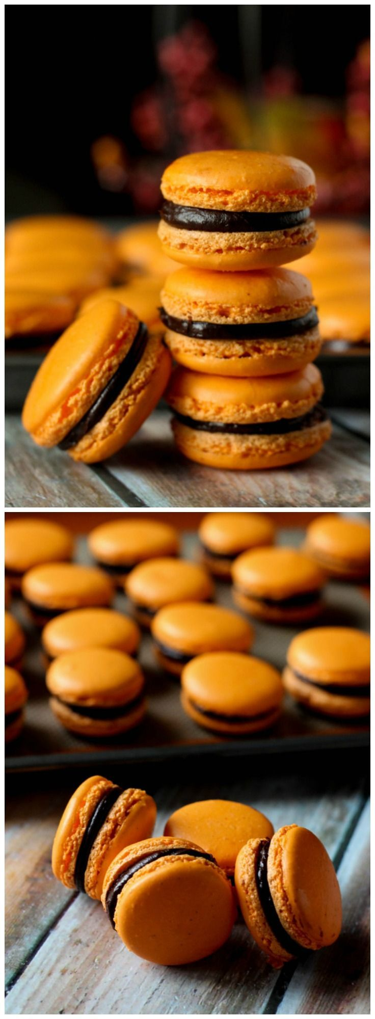 orange dark chocolate macarons rezept gluten free goodies pinterest kuchen geb ck. Black Bedroom Furniture Sets. Home Design Ideas