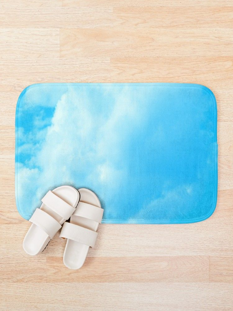 Tapis De Bain Photo Ciel Bleu Avec Nuage Par K Creatif Photo Ciel Ciel Bleu Nuage