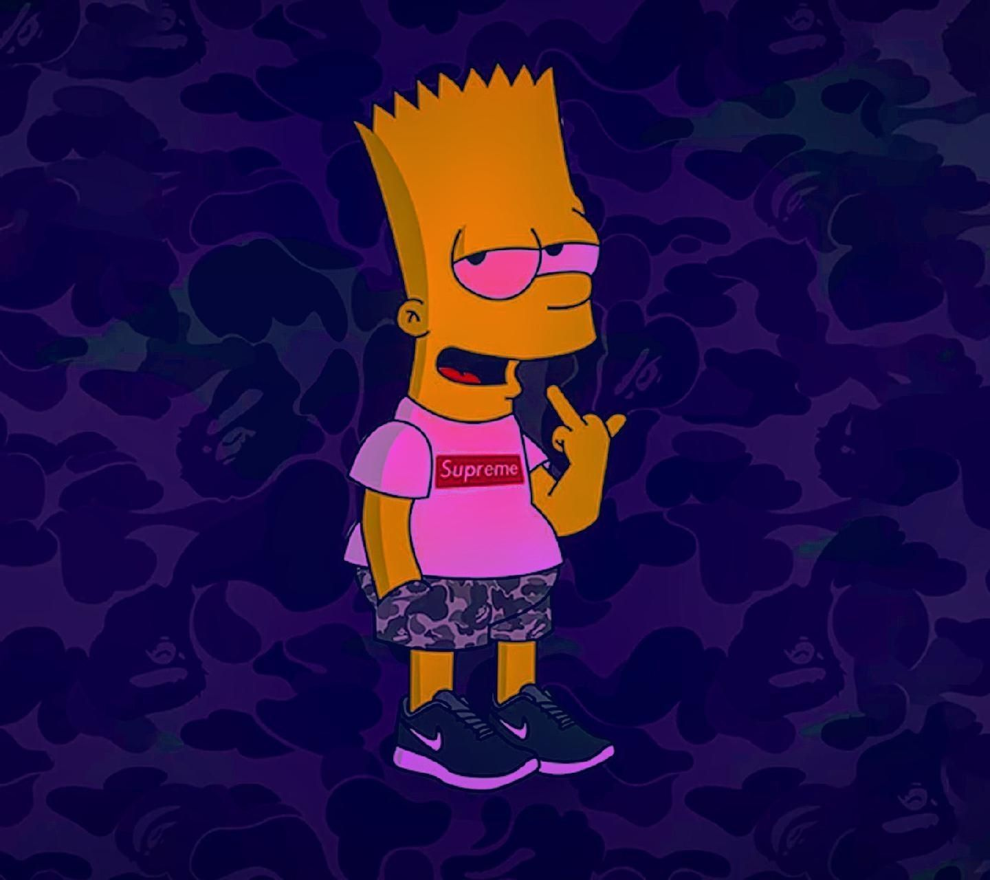 High Bart Simpson Supreme Wallpapers Top Free High Bart With Regard To The Most Awesome Simpson In 2020 Simpson Wallpaper Iphone Simpsons Drawings Bart Simpson Drawing