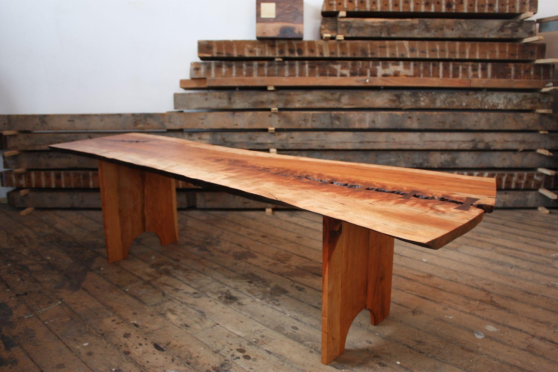 Cherry Slab Bench Wood Bench Design Bench Furniture Live Edge