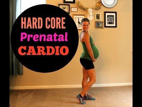 Hard Core Prenatal Cardio - YouTube ♥ LOVE this cardio routine and all of Ashl... -
