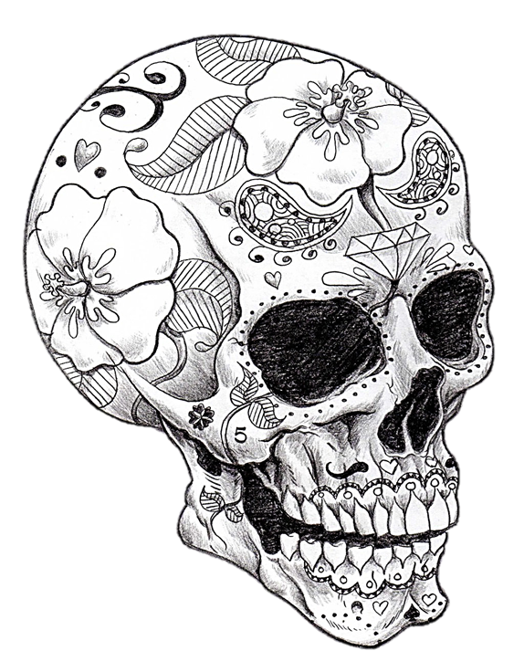 Cool Skull Art Skull Coloring Pages Skull Art Skull