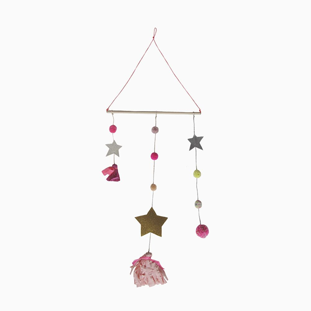 star tassel mobile (pink and gold) – Sweet William