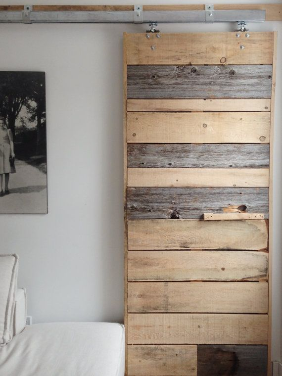 Sliding Barn Door Reclaimed Pine Barn wood Rustic by ...