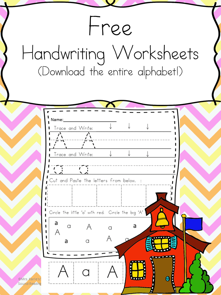 26 Free Handwriting Printable Worksheets for Kindergarten | Kind