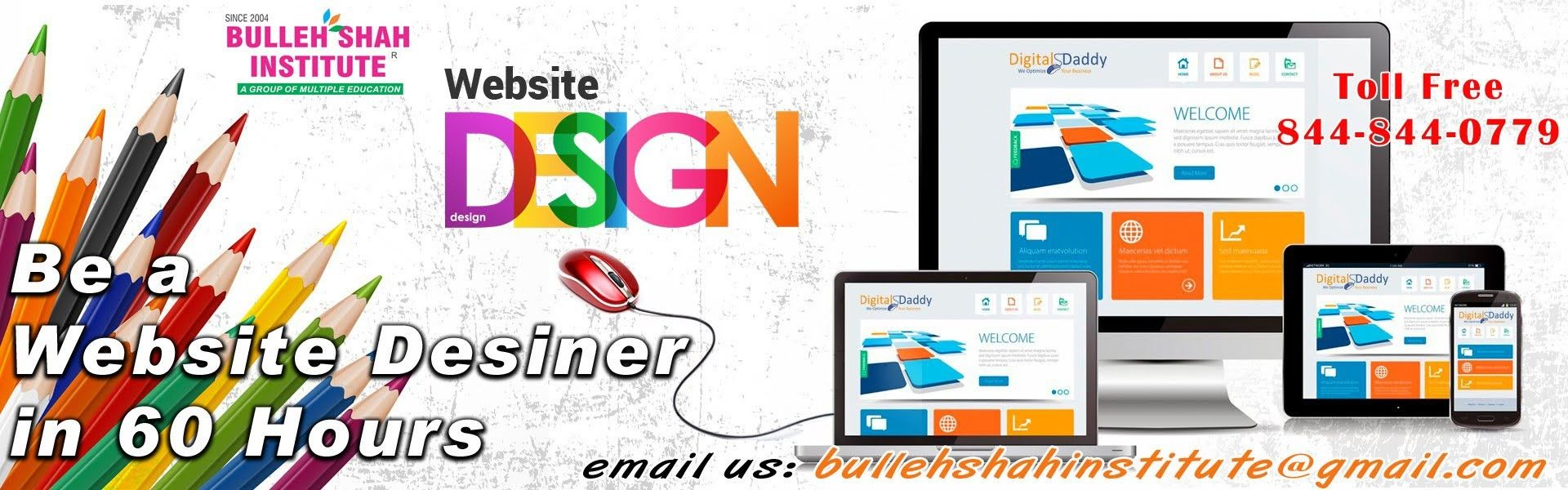 If You Want To Be A Website Designer Then Come At Our Office As Soon As Course Start Contact Us Bulleh Shah Institute Badh Website Design Help Desk Website