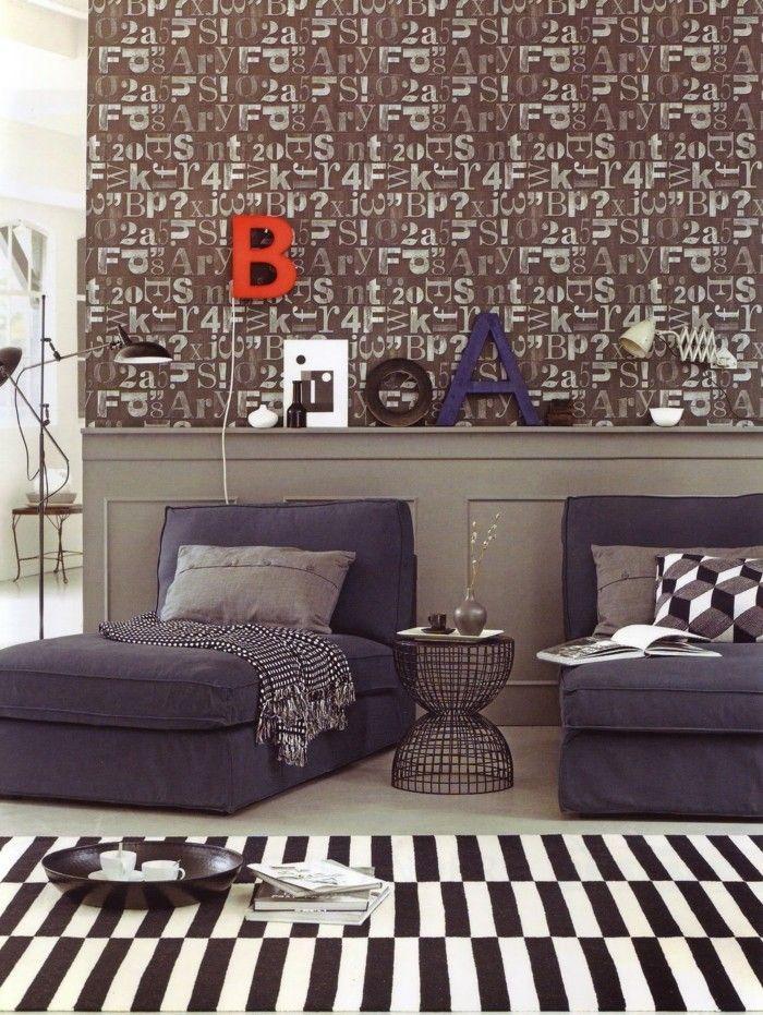 buchstaben deko im modernen wohnzimmer Wanddekoration - Interior